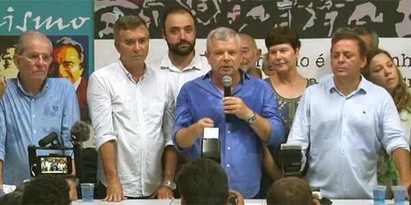 Chico D'Angelo, Bagueira, Grael e Rodrigo Neves