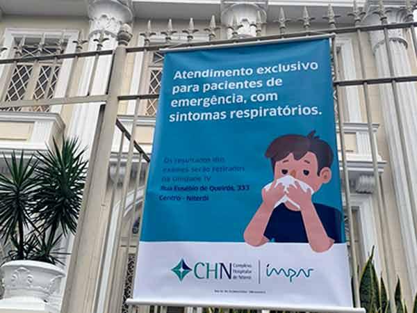 CHN abre unidade atender casos de coronavirus