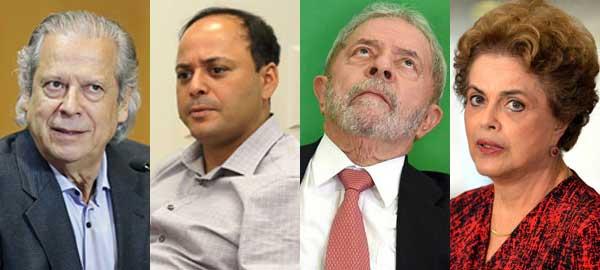 Rodrigo tem o DNA petista de José Dirceu, Lula e Dilma