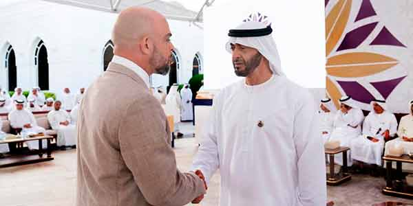 Sid Jacintho e o príncipe Sheikh Mohammed Bin Zayed Bin Sultan Al Nahyan,