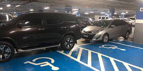 estacionamento vip do Plaza Shopping