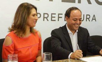 Rodrigo Neves e Giovanna Victer