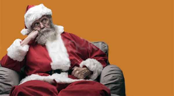 Papai Noel cansado