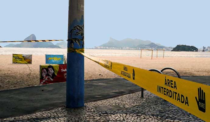 praia interditada