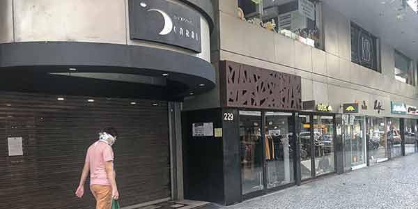 Lojas fechadas no shopping Icaraí